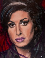 Amy by Pete Humphreys - Original Painting on Stretched Canvas sized 28x36 inches. Available from Whitewall Galleries
